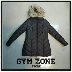 NZN NOZONE Woman Jacket long cappuccio con pelliccia