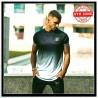 SIKSILK t-shirt SS-14980 Fade Tech Tee black-white