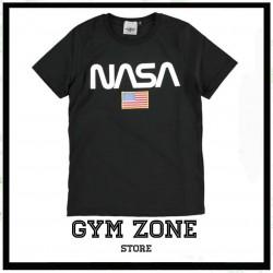 NASA t-shirt white m/c maglietta nera
